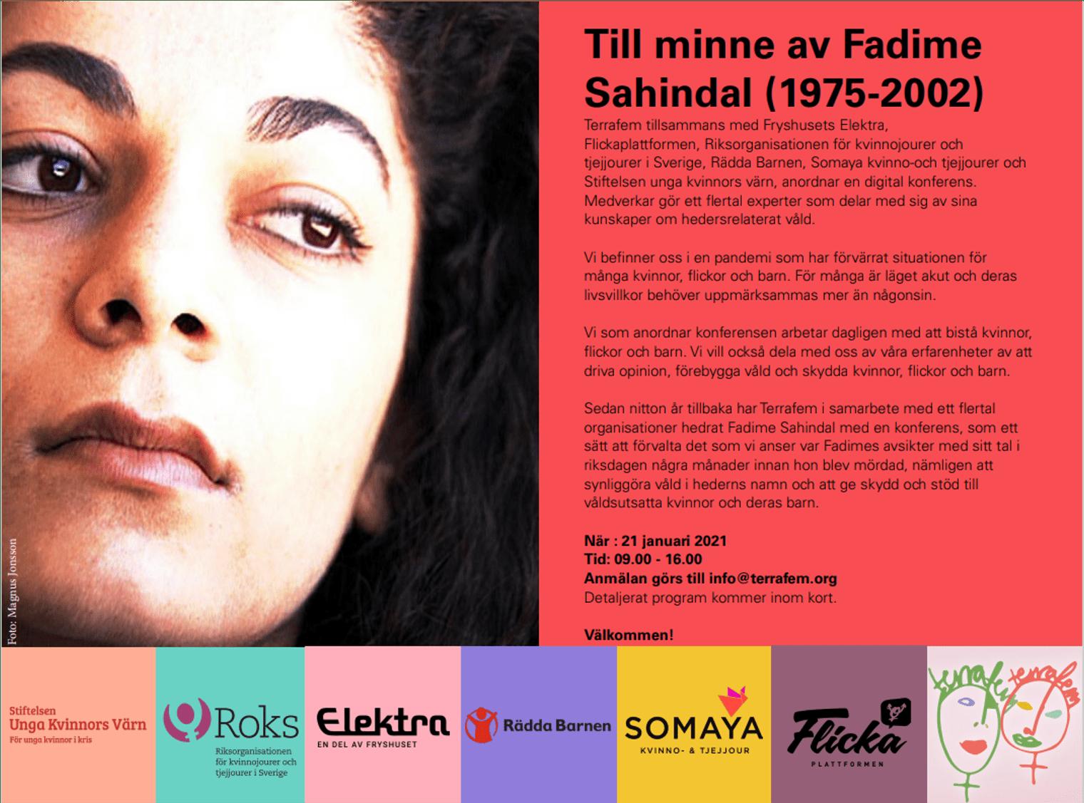 Program för digital konferens – till minne av Fadime Sahindal